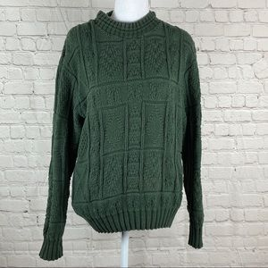 The Woolrich Woman Dark Green Sweater Sz M